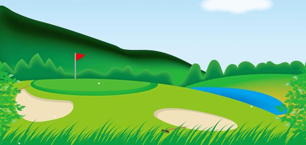 parcours (terrain) de golf